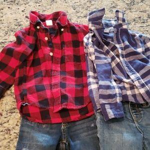 2T Baby Gap Flannel Lot